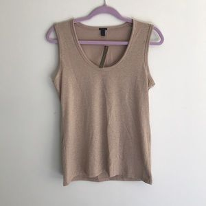 J Crew Gold Tank Top NWT Size Small